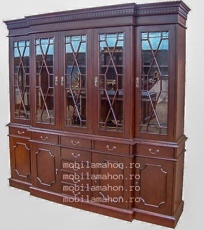 Biblioteca cu cinci usi de sticla
