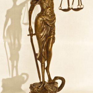 Statueta bronz - Justitia