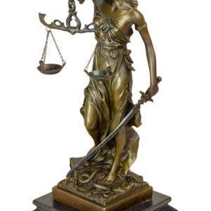 Justitia - Statueta bronz