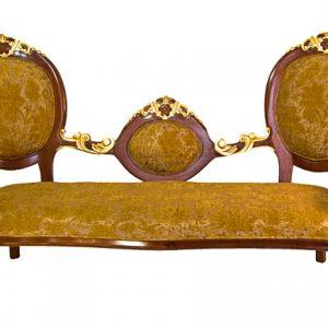 Canapea-Golden Triple Cameo Sofa