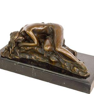 Statueta bronz semnata Milo