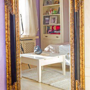 Oglinda cristal baroc rama lemn